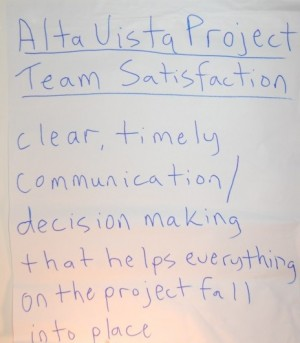 AltaVistaProjectTeamSatisfactionDefined